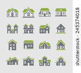 house icon set | Shutterstock .eps vector #245374018