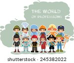 the world of professions in... | Shutterstock .eps vector #245382022