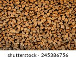 background of firewood stack | Shutterstock . vector #245386756