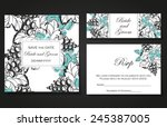 set of invitations with floral... | Shutterstock .eps vector #245387005
