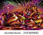 candy land. fantasy chocolate... | Shutterstock . vector #245389882