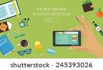 flat style modern design... | Shutterstock .eps vector #245393026