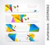 flyer template header design.... | Shutterstock .eps vector #245396062