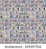 multiethnic casual people... | Shutterstock . vector #245397532