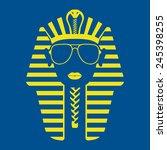pharaoh in sunglasses | Shutterstock .eps vector #245398255