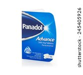 Small photo of SWINDON, UK - JANUARY 15, 2015: Panadol of 500mg Paracetamol Tablets on a white background
