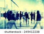 handshake partnership agreement ... | Shutterstock . vector #245412238