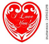 valentine's day greeting card.... | Shutterstock .eps vector #245413198