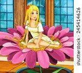 Cartoon Fairy Tale Scene  ...