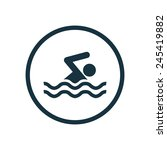 swim icon vector | Shutterstock .eps vector #245419882