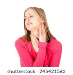 Small photo of Painful neck - parotid and throat inflammation.