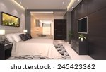 Stock photo bright modern interior of hotel room or condominium 245423362