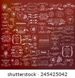 set of decorative  calligraphic ...
