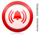 alarm icon alert sign bell... | Shutterstock . vector #245438326