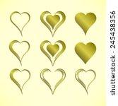 vector illustration  set of... | Shutterstock .eps vector #245438356