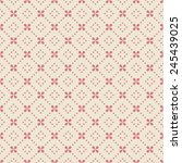 pink floral pattern with dots.... | Shutterstock .eps vector #245439025