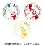 Round Made In Philippines Stamp ...