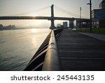 sunrise over the manhattan... | Shutterstock . vector #245443135