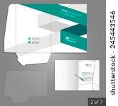 white folder template design... | Shutterstock .eps vector #245443546