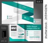 white brochure template design... | Shutterstock .eps vector #245443696