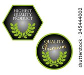 set of highest quality product... | Shutterstock .eps vector #245444002
