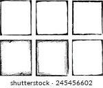 grunge frame set. vector... | Shutterstock .eps vector #245456602