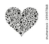 heart of the squares squares... | Shutterstock .eps vector #245457868