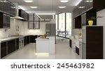 3d interior of backroom kitchen ... | Shutterstock . vector #245463982