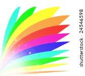 Bright Vector Rainbow Fan...
