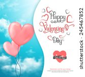 valentine's card with heart... | Shutterstock .eps vector #245467852