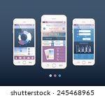mobile ui kit. vector design in ...