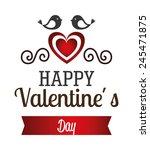 valentines day over white... | Shutterstock .eps vector #245471875