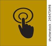 hand cursor sign icon. hand...