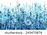 blue horizontal thickets  field ... | Shutterstock .eps vector #245473876