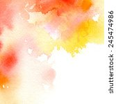 red yellow watercolor abstract... | Shutterstock .eps vector #245474986