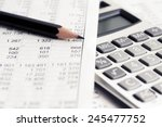 financial accounting | Shutterstock . vector #245477752