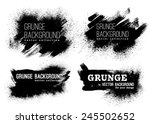 Stock vector set of black ink vector stains 245502652