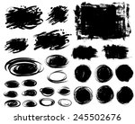 set of black ink vector stains | Shutterstock .eps vector #245502676