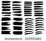 set of black ink vector stains | Shutterstock .eps vector #245502682