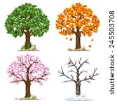 tree in four seasons   spring ... | Shutterstock .eps vector #245503708