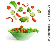 salad with lettuce and other... | Shutterstock . vector #245508706