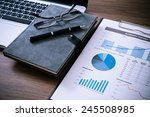 showing business and financial... | Shutterstock . vector #245508985