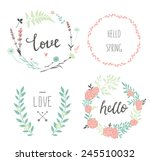 set of 4 vector design floral... | Shutterstock .eps vector #245510032