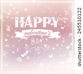 happy valentines day card... | Shutterstock .eps vector #245510122