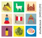 peru icon set | Shutterstock .eps vector #245511292