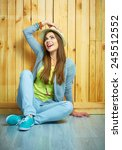 teenager style young woman... | Shutterstock . vector #245512552
