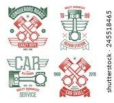 car engine piston emblems....   Shutterstock .eps vector #245518465