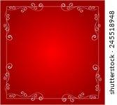 greeting frame for valentine's... | Shutterstock .eps vector #245518948