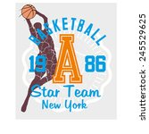 basketball sports team vector... | Shutterstock .eps vector #245529625