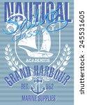 Sailing Graphic Design Vector...